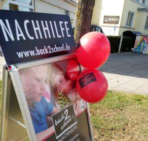 back2school Essen Stadtwald Werbetafel Nachhilfe in Essen